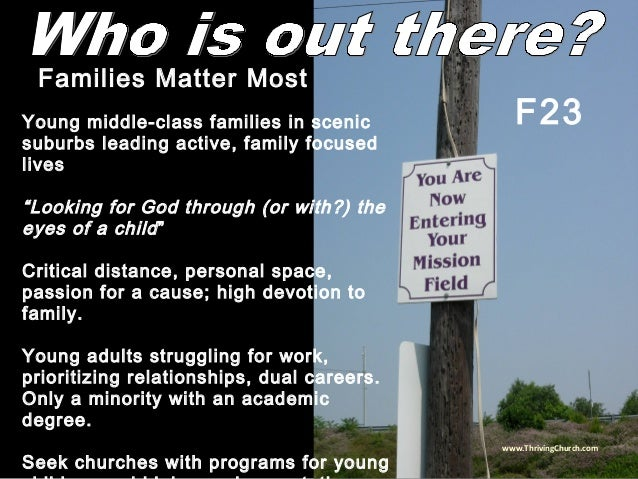 """Young middle-class families in scenic suburbs leading active, family focused lives """"Looking for God through (or with?) the..."""