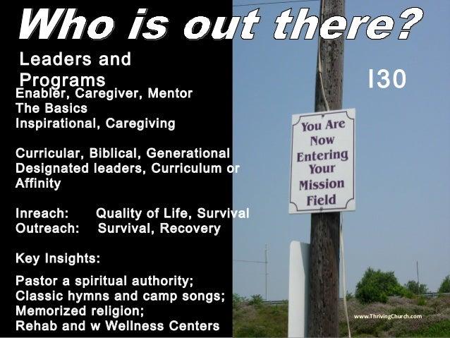 Enabler, Caregiver, Mentor The Basics Inspirational, Caregiving Curricular, Biblical, Generational Designated leaders, Cur...