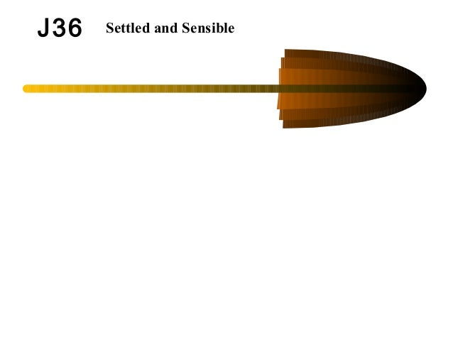 J36 Settled and Sensible