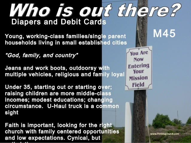 """Young, working-class families/single parent households living in small established cities """"God, family, and country"""" Jeans..."""
