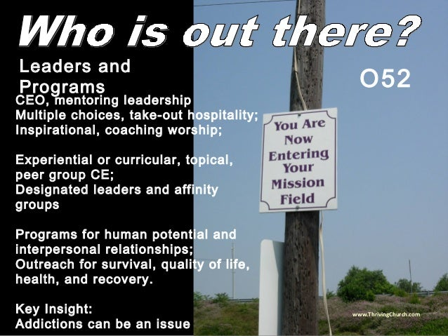 CEO, mentoring leadership Multiple choices, take-out hospitality; Inspirational, coaching worship; Experiential or curricu...