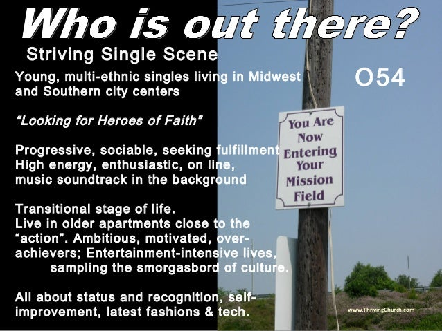 """Young, multi-ethnic singles living in Midwest and Southern city centers """"Looking for Heroes of Faith"""" Progressive, sociabl..."""