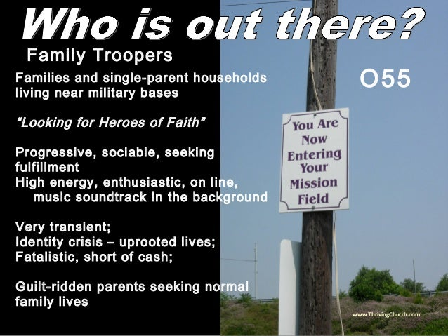 """Families and single-parent households living near military bases """"Looking for Heroes of Faith"""" Progressive, sociable, seek..."""