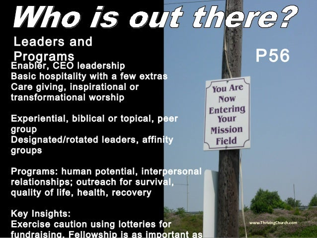 Enabler, CEO leadership Basic hospitality with a few extras Care giving, inspirational or transformational worship Experie...
