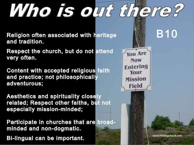 Religion often associated with heritage and tradition. Respect the church, but do not attend very often. Content with acce...