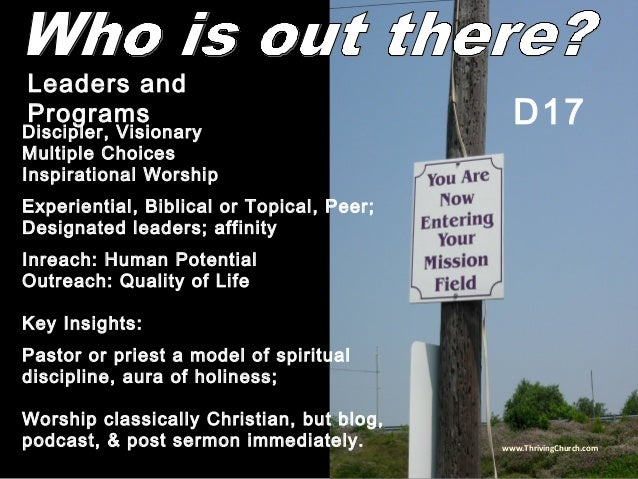 Discipler, Visionary Multiple Choices Inspirational Worship Experiential, Biblical or Topical, Peer; Designated leaders; a...