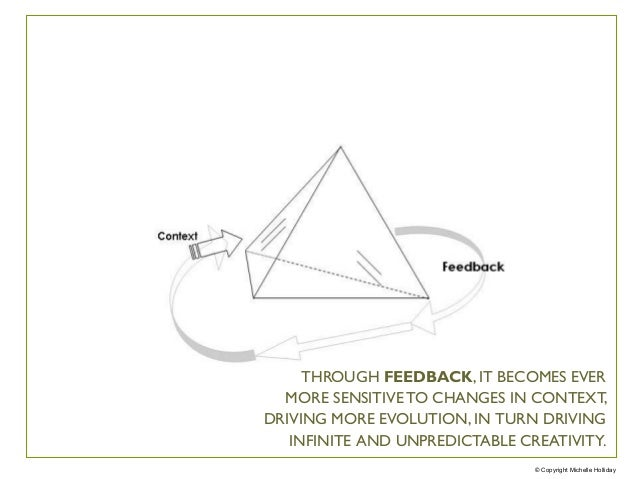 © Copyright Michelle Holliday THROUGH FEEDBACK, IT BECOMES EVER MORE SENSITIVE TO CHANGES IN CONTEXT, DRIVING MORE EVOLUTI...
