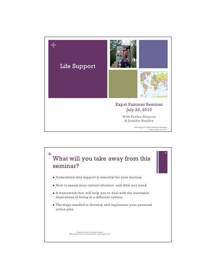 +         Life Support                                                                           Expat Summer Seminar     ...