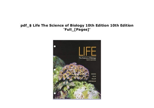 life the science of biology 10th edition pdf free