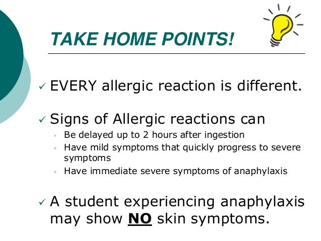 Food Allergen Reactions Can Occur How Quickly