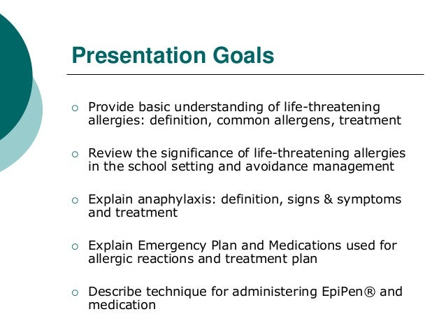 an analysis of the treatment of anaphylaxis a life threatening condition Anaphylaxis: a study of the condition and treatment  'anaphylaxis is a severe, life-threatening,  a study of the condition and treatment.