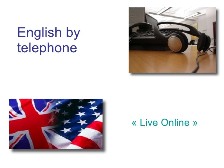 English by  telephone « Live Online »
