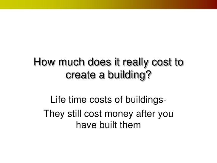 lifetime costs