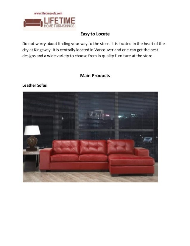 4. Lifetime Home Furnishings  Leather Furniture Specialist Vancouver