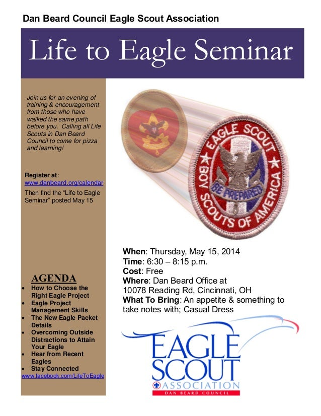 AGENDA   How to Choose the Right Eagle Project   Eagle Project Management Skills   The New Eagle Packet Details   Over...