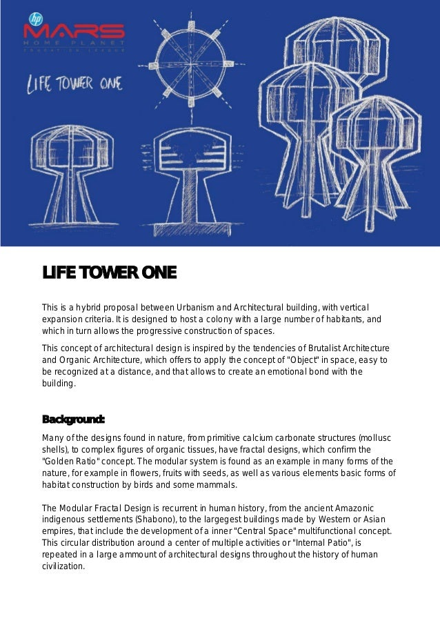 LIFE TOWER ONE This is a hybrid proposal between Urbanism and Architectural building, with vertical expansion criteria. It...