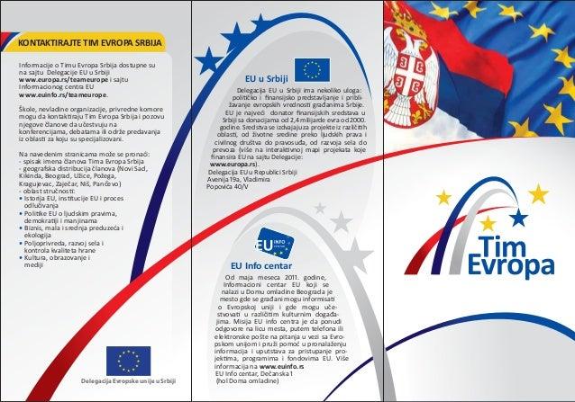 Informacije o Timu Evropa Srbija dostupne suna sajtu Delegacije EU u Srbijiwww.europa.rs/teameurope i sajtuInformacionog c...