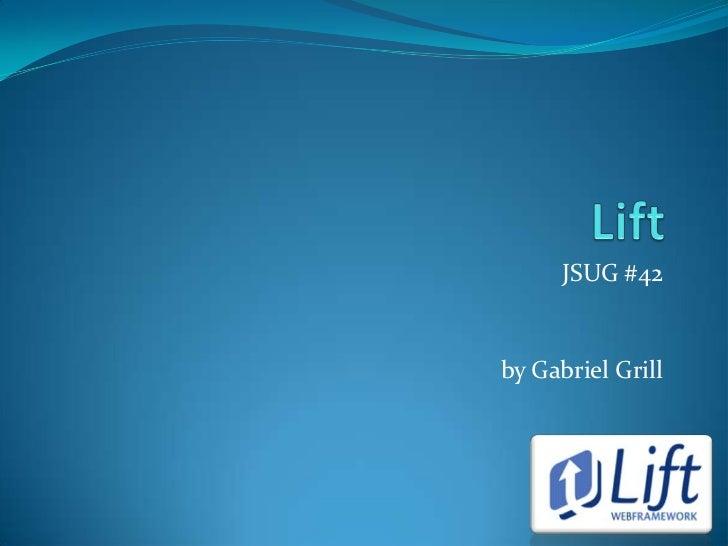 JSUG #42by Gabriel Grill
