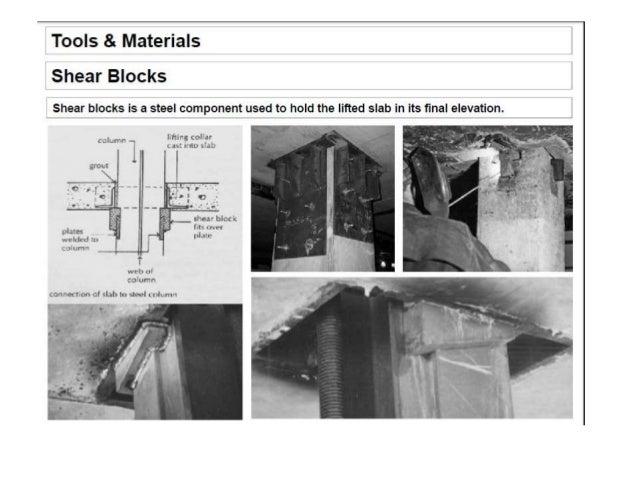 lift slab construction method pdf