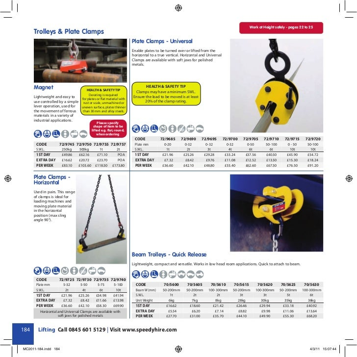 Work at Height safely - pages 22 to 25      Trolleys & Plate Clamps                                                       ...