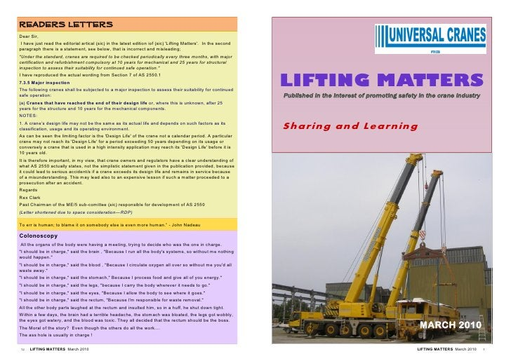 READERS LETTERS Dear Sir,  I have just read the editorial artical (sic) in the latest edition iof (sic) 'Lifting Matters'....