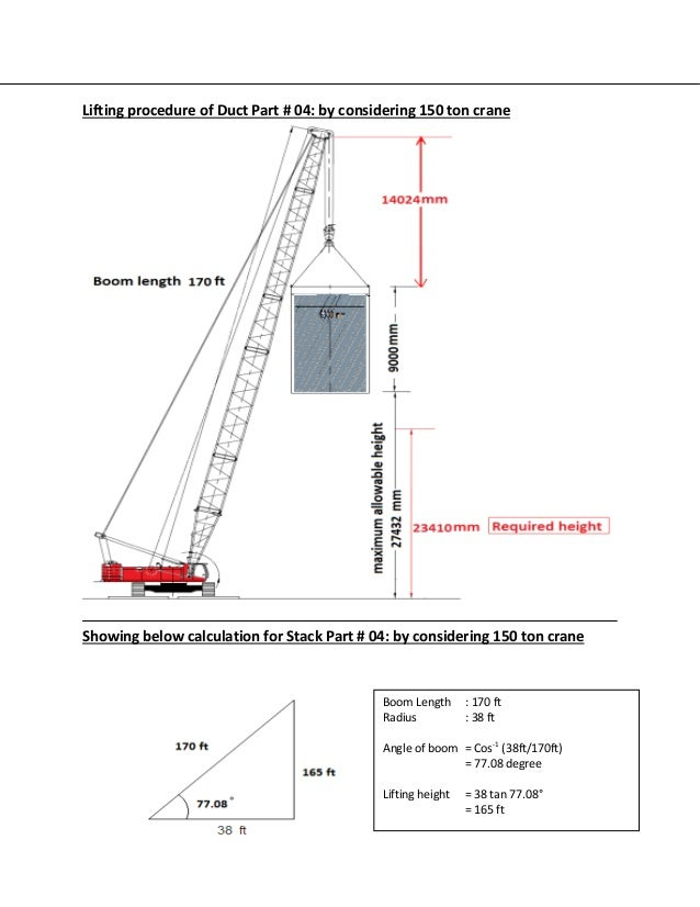 Lifting plan for bypass stack installation