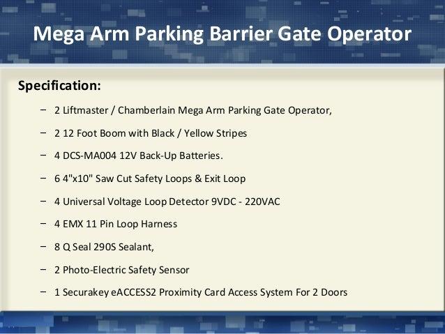 Liftmaster mega arm parking barrier gate operator
