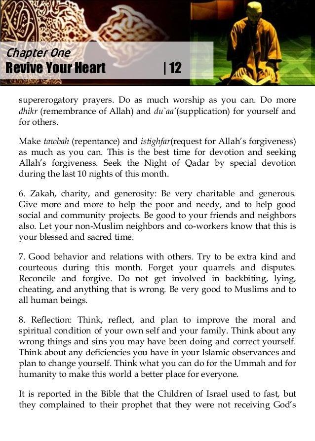 Lift Up Your Heart in Ramadan