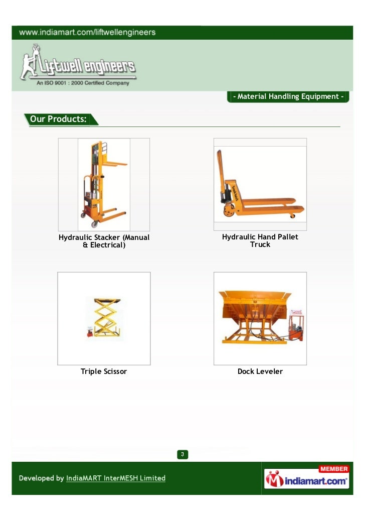 Liftwell Engineers Faridabad Material Handling Equipment