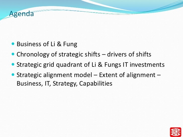 li fung case study analysis Case study analysis – li & fung the report must include three components: (a) page 1: essential case facts, (b) page 2 – 3: identification of major issues/dilemmas, pros and cons of two alternative paths of.