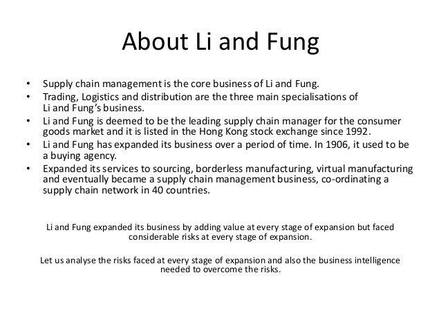 swot analysis of li fung Li & fung limited (494) - financial and strategic swot analysis review provides you an in-depth strategic swot analysis of the companys businesses and operations the profile has been compiled.