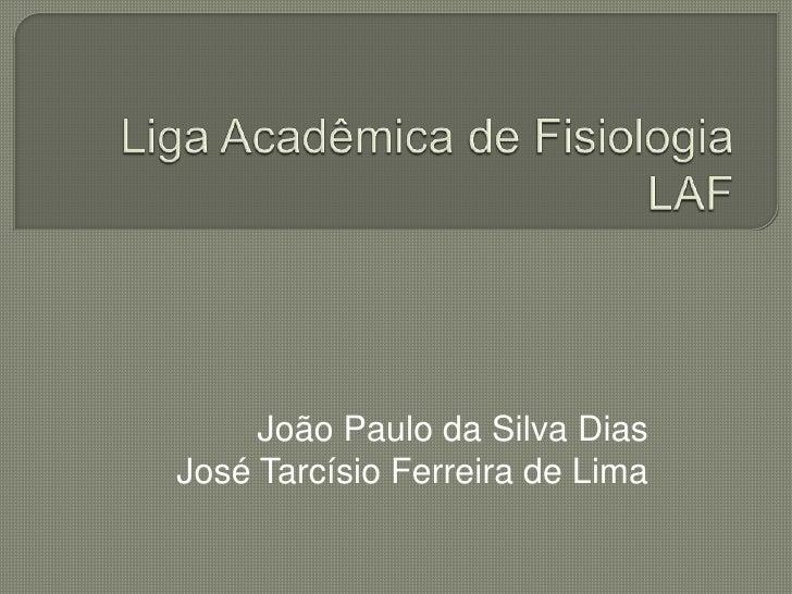 João Paulo da Silva DiasJosé Tarcísio Ferreira de Lima