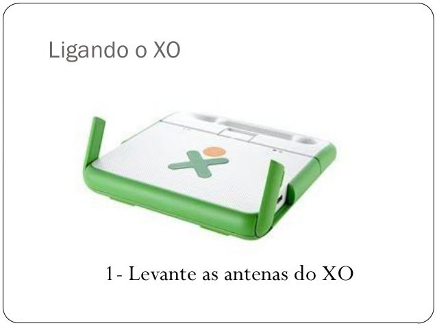 Ligando o XO 1- Levante as antenas do XO