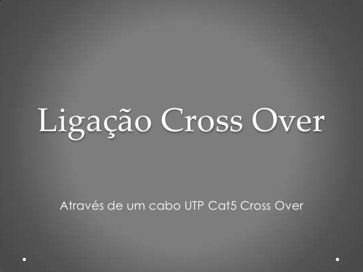 Ligação Cross Over Através de um cabo UTP Cat5 Cross Over