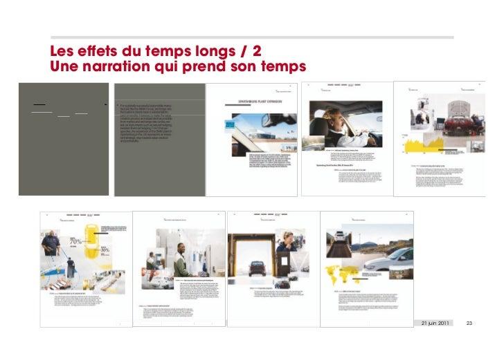 Les effets du temps longs / 2Une narration qui prend son temps         Analyse éditoriale des rapports annuels   21 juin 2...