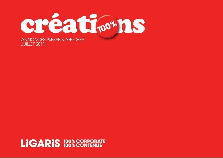créationsAnnonces presse & AffichesJUiLLeT 2011