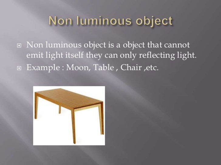 Non-luminous meaning youtube.