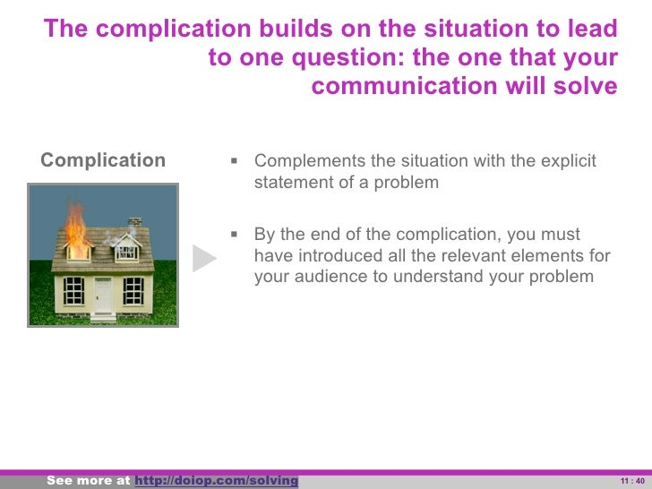 The key question and/or answer is the central            idea of your communication: the top of your                      ...