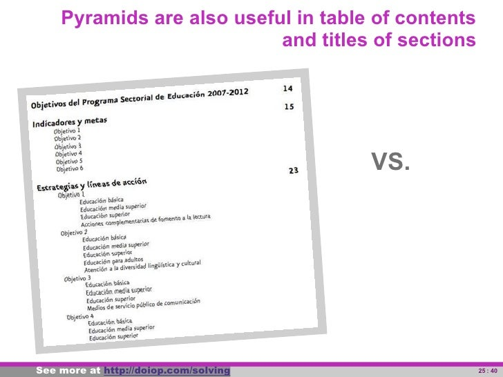 Similarly, pyramids are useful to structure paragraphs                      PISA seeks to assess     PISA seeks to measure...