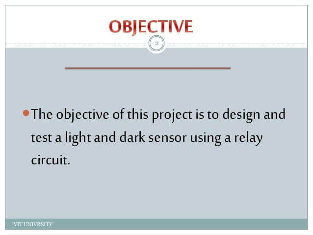 Light and dark sensor
