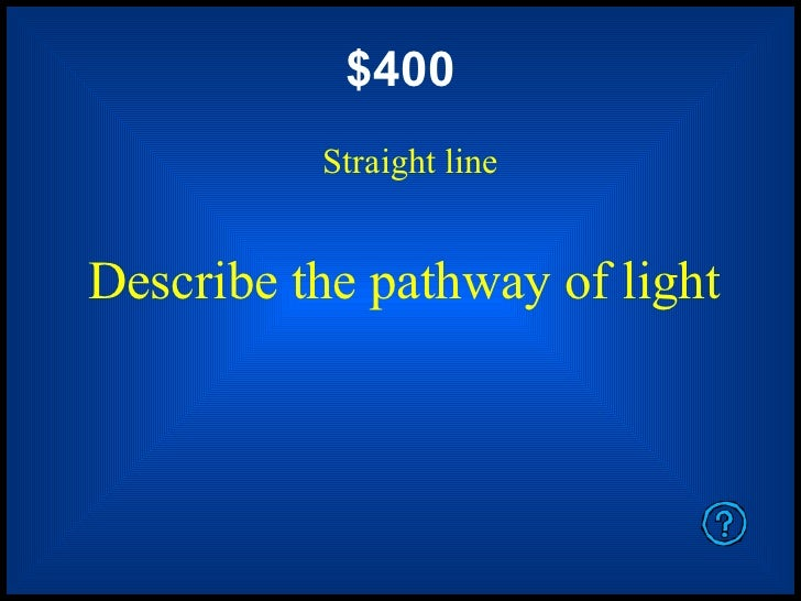 Light And Mirrors Jeopardy