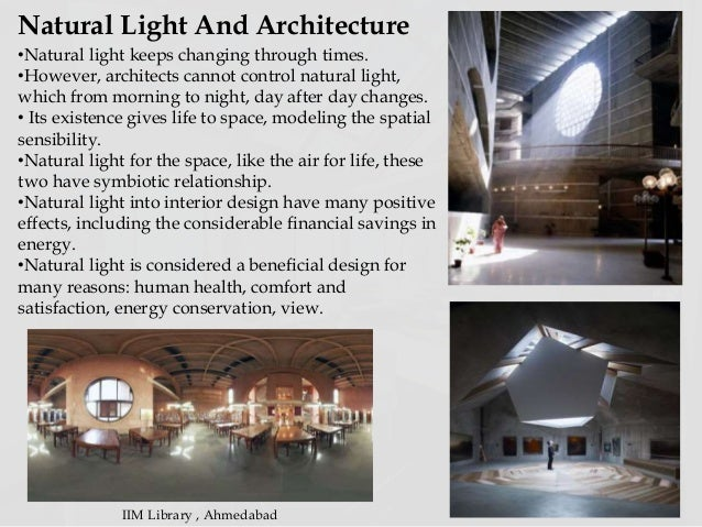 Light as an architectural elemant1 for Importance of space in architecture