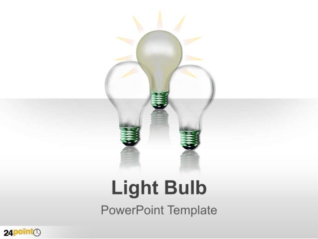 light bulb - powerpoint template, Powerpoint templates