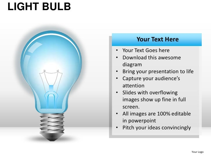 Light bulb powerpoint presentation templates light toneelgroepblik Image collections