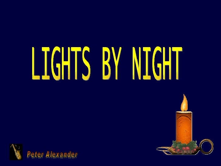Peter Alexander LIGHTS BY NIGHT