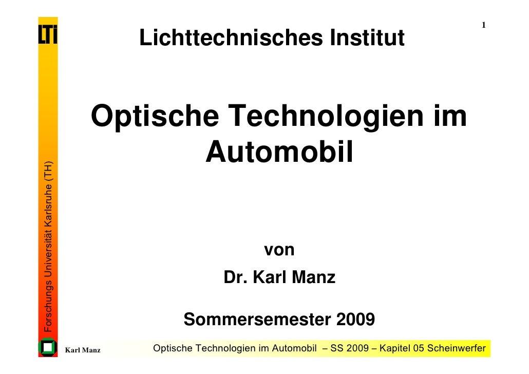 1                                                     Lichttechnisches Institut                                           ...