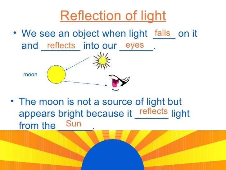 Light Energy Sources And Reflection