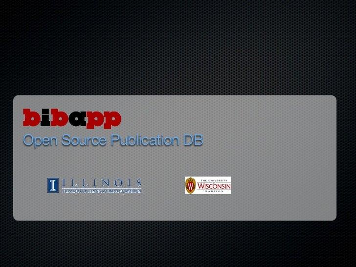 Open Source Publication DB
