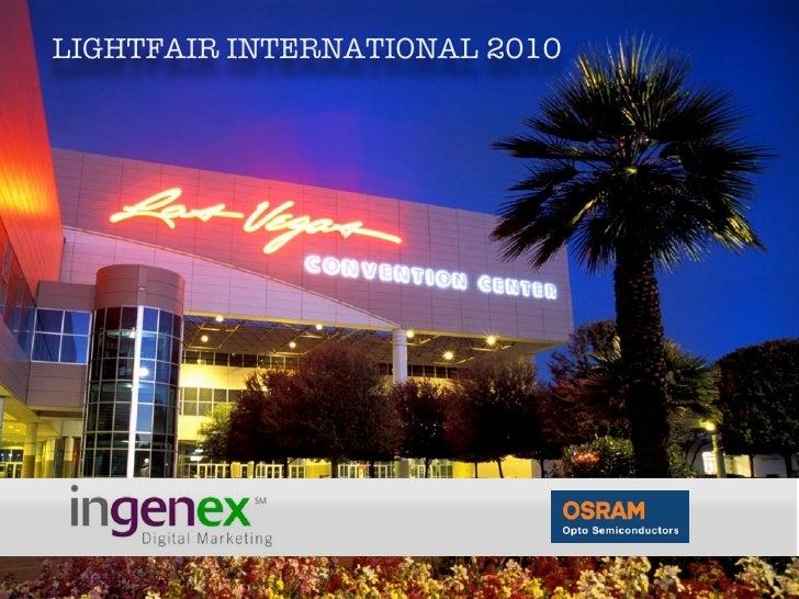 LIGHTFAIR INTERNATIONAL 2010                       s