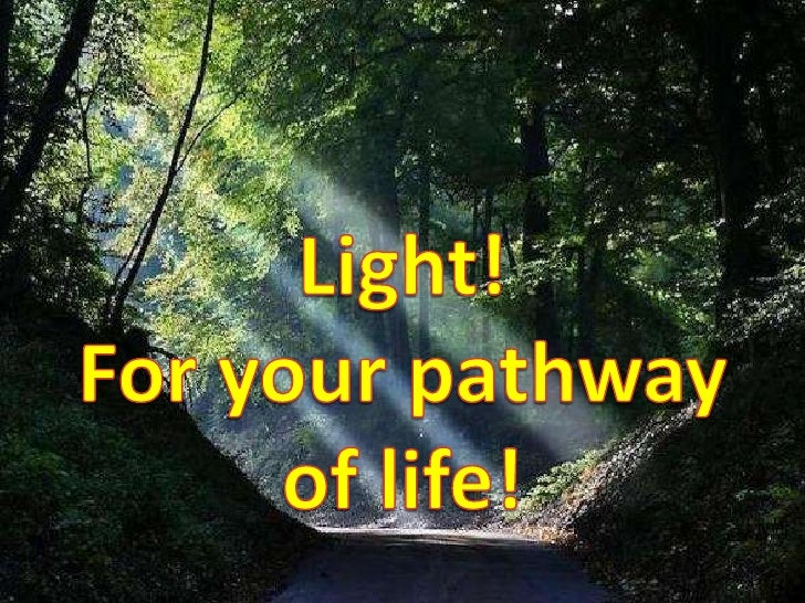 Light!<br />For your pathway<br />of life!<br />
